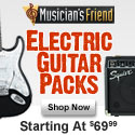 Electric Guitar Packs Starting at $69.99