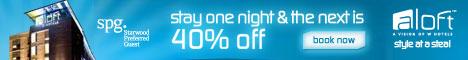 Aloft Better Tomorrow - 40% off next day