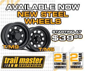 Trailmaster steel wheels starting at $39.99