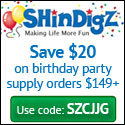 Free Shipping on Birthday Party Supply orders $85+