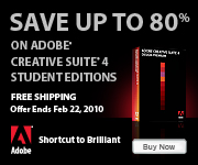 Adobe Free Shipping on Education Products!