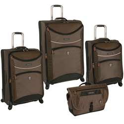 Timberland Rt. 4 4 Piece Expandable Spinner Luggage Set Now Only $279.47 Org. $1,360.00 Plus Free Shipping. Use Promo Code TBRT