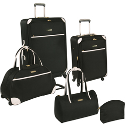 -Nine West Round Trip 5 Piece Expandable Spinner Luggage Set Now Only $107.17 Org. $360.00 Plus Free Shipping. Use Promo Code FALL-