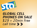 $20 free talk time with $29 global cell phone