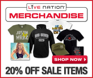 20% Off in the Live Nation Store Sale Dept!