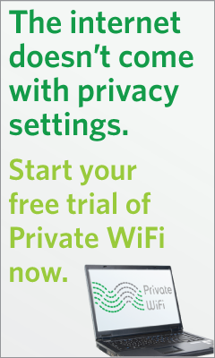 Download your free trial of Private WiFI