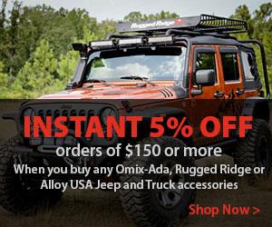 Save 5% on your favorite off-road brands when you spend $150 or more