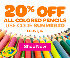 20% off Colored Pencils Banner SUMMER20