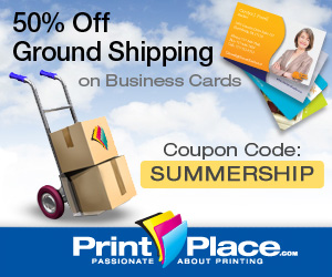 Summer Ship- 1/2 Off Shipping on Business Cards!