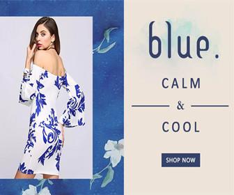 blue CALM-&-COOL Dresses