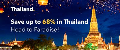 Save up to 68% in Thailand! Head to Paradise!