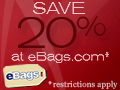 Save 20% at eBags.com!