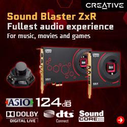 Sound Blaster ZxR High Performance PCIe Sound Card
