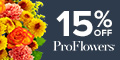 120 x 60 15% off Fall Flowers & Gifts at ProFlowers
