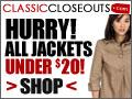 ClassicCloseouts.com 20% OFF