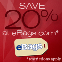 Save 20% at eBags.com!