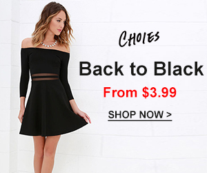 Classic Black,Trendy Eternally,All-match Ever! From $3.99!