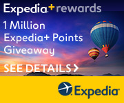 1 Million Expedia+ Rewards Points Sponsored by MasterCard