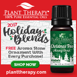 Receive a Free Aroma Stone Ornament With Your Purchase of the New Holiday Blends, Now Available at P