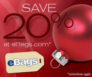 Save 20% at eBags.com! 11/26-12/08/09
