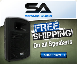 Free Shipping on ALL Speakers at Seismic Audio