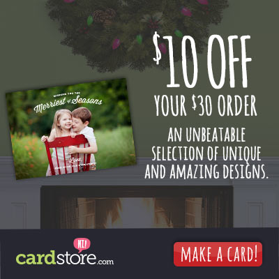 Affiliate Exclusive! Save $10 off Any Order $30+ at Cardstore! Use Code: CAM3849, Valid through 11/2