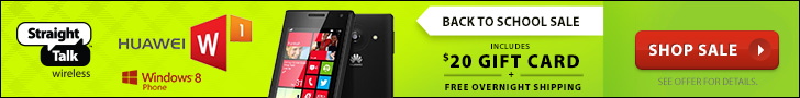 Back to School Sale! Get the New Huawei W1 with a $20 Gift Card and Free Overnight Shipping