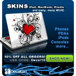 10% OFF DecalGirl Click here!