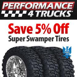 5% Off Super Swamper Tires