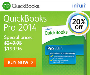 Save 20% off in Quick Books Pro 2013