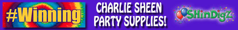 Charlie Sheen Party Supplies only at Shindigz!