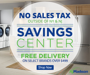 AJ Madison Savings Center- Up to 40% Off + Free Delivery on Select Brands Over $499!