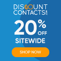 CYBER WEEK SALE! Enjoy 20% Off Sitewide at DiscountContactLenses.com! Use Code: BLACKFRIDAY20 at Che