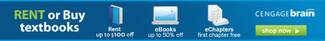 Save up to 60% on textbooks and 50% on eBooks.