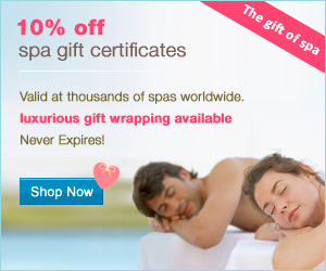 Save 10% on spa gift certificates at WaySpa.com