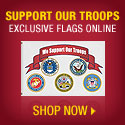 Buy Support Our Troops Flag, exclusively here