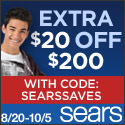 Exclusive Offer! EXTRA $20 off Sears.com orders of $200 or more in Featured Categories with code SEA