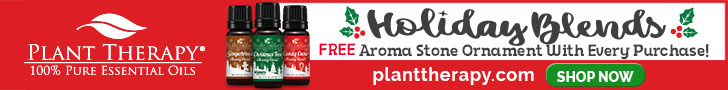 Free Aroma Stone Ornament With Your Purchase of the New Holiday Blends, at Plant Therapy!