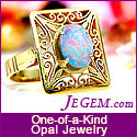 JEGEM.com ~ October Birthstone: Opal Jewelry