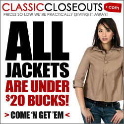 ClassicCloseouts Clearance 90% OFF