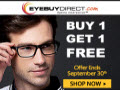 Prescription eyeglasses $5.91 + buy one get one free {Ive ordered from this site, very impressed}!