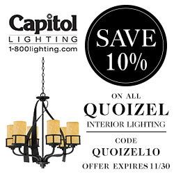 Save 10% on Quoizel Interior Lighting with code QUOIZEL10 at 1800lighting.com! Offer ends 11/30.