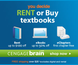 Save up to 15% on textbooks and 50% on eBooks.