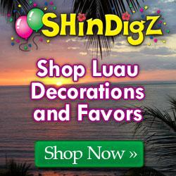 Shop luau decorations and favors.