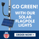 Solar-Powered Flagpole Light