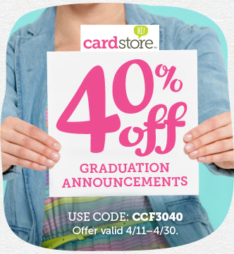 Celebrate the Class of 2013! Shop Perfectly Personalized Graduation Announcements at Cardstore