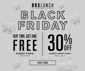 Black Friday Sale: 30% Off Almost Everything and Buy 2 Get 1 Free Funko Pop!s