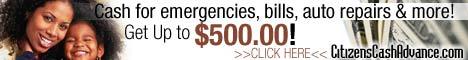 Citizens Cash Advance - Fast Online Cash!