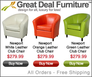 Save big on leather club chairs!
