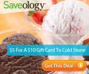 50% Off Cold Stone Creamery   Only $5 for a $10 Gift Card!